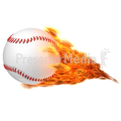Baseball Flaming Presentation clipart