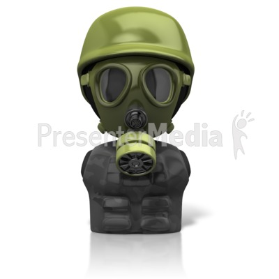 Gas Mask Figure Icon Presentation clipart