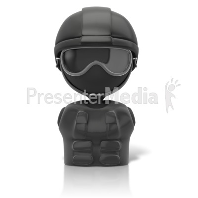 Swat Figure Icon Presentation clipart