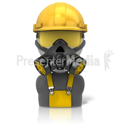 Construction Safety Figure Icon Presentation clipart
