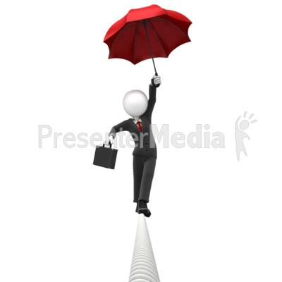 Figure Dangerous Tightrope Presentation clipart
