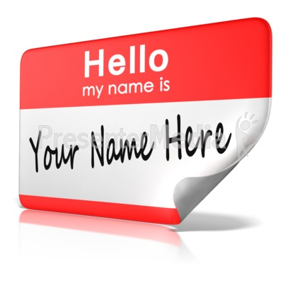 Hello My Name Is Tag Text Presentation clipart