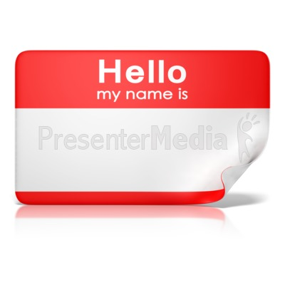 Hello My Name Is Tag Front Presentation clipart