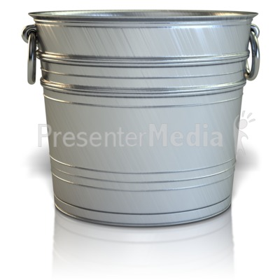Empty Bucket Presentation clipart