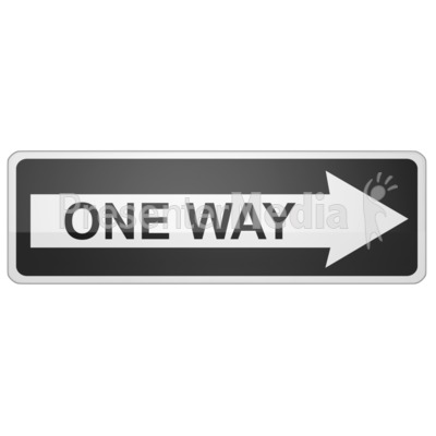 Long One Way Sign Right Presentation clipart