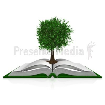 Tree In A Book Presentation clipart
