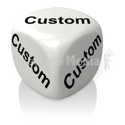 White Dice Custom Presentation clipart