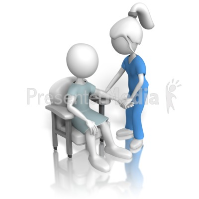 Nurse or Doctor Inspecting Patient Presentation clipart