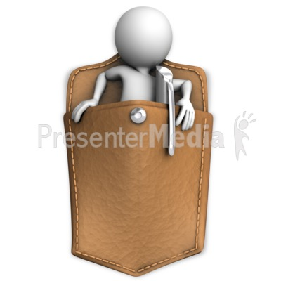Got Someone In Your Pocket Presentation clipart