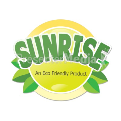Eco Sun Label Presentation clipart