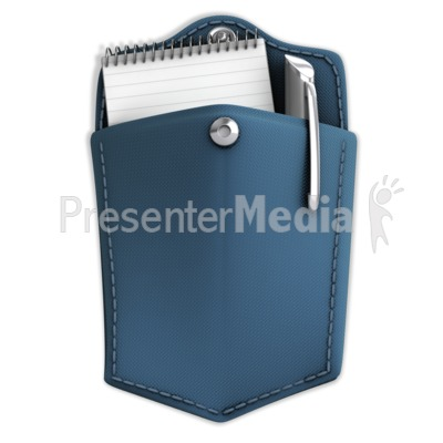 Pocket With Notepad And Pen Presentation clipart