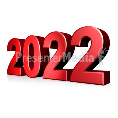 Colored Custom Year Text Presentation clipart