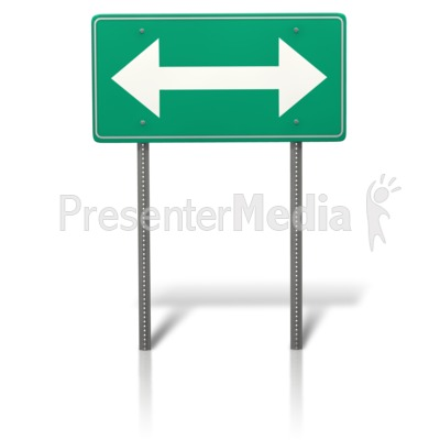 Arrow Split Sign Presentation clipart