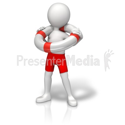 Figure With Life Preserver Presentation clipart