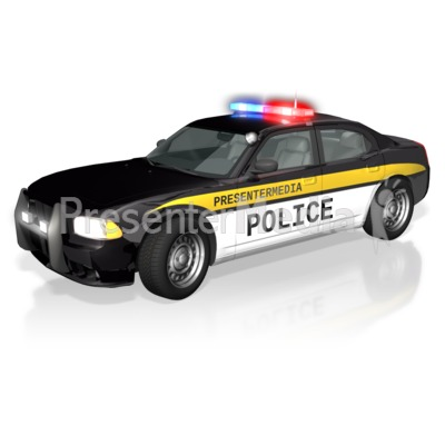 Police Car Text Presentation clipart
