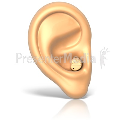 Hearing Aid in Ear Presentation clipart