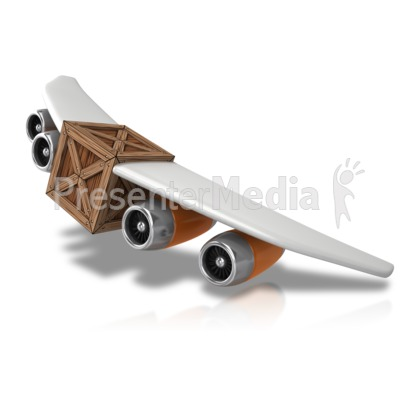 Plane With Cargo Presentation clipart