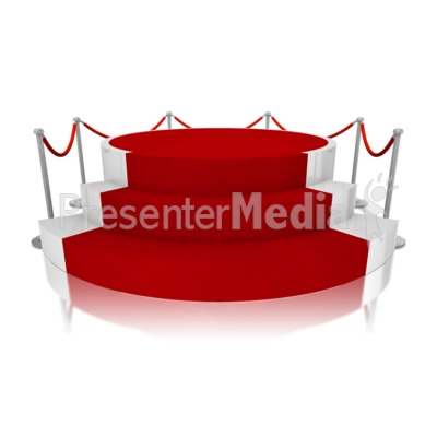 Platform Red Carpet Presentation clipart