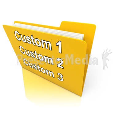 Custom Folder Presentation clipart