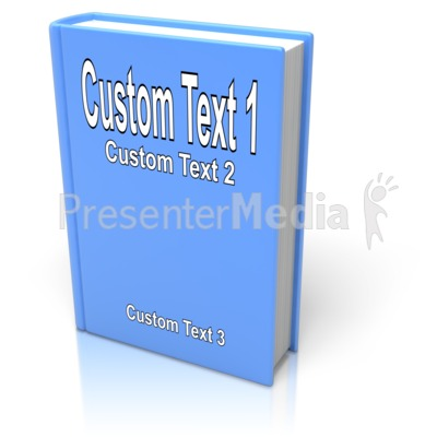 Custom Book Cover Presentation clipart