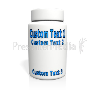 Custom White Pill Bottle Presentation clipart