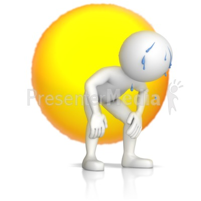 Exhausted Figure In The Sun Presentation clipart