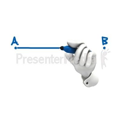 Hand Drawing A To B Presentation clipart