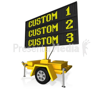 Custom Digital Road Sign Presentation clipart