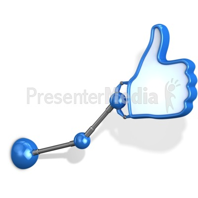 Mechanical Arm Thumbs Up Presentation clipart