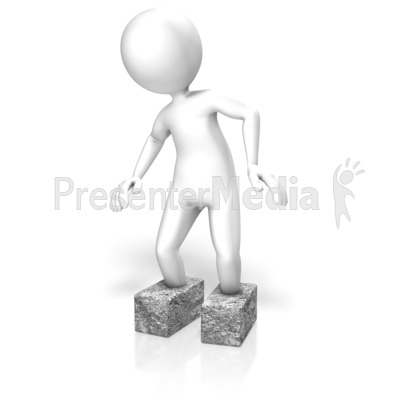 Stick Figure Cement Shoes Presentation clipart