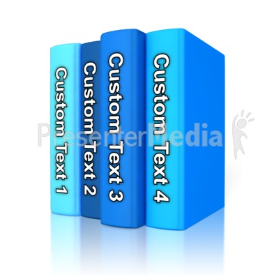 Custom Text Book Standing Up Presentation clipart
