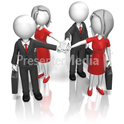 Business Team Huddle Presentation clipart