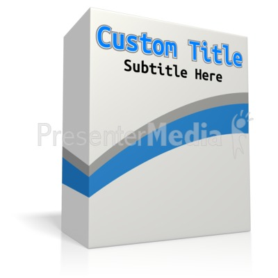 Custom Software Box No Disc Presentation clipart
