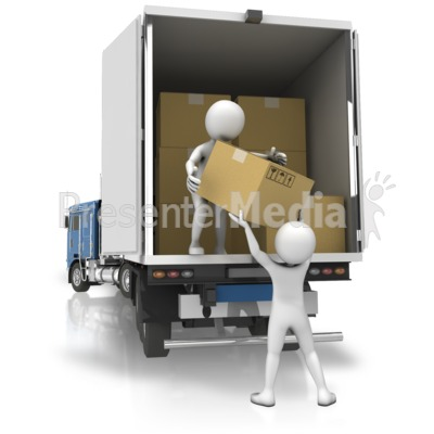 Semi Loading Boxes Presentation clipart