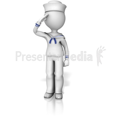 Sailor Saluting Presentation clipart