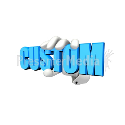 Hand Holding Custom Text Presentation clipart