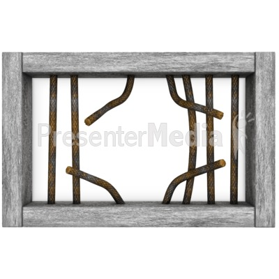 Jail Window Bars Broken Presentation clipart