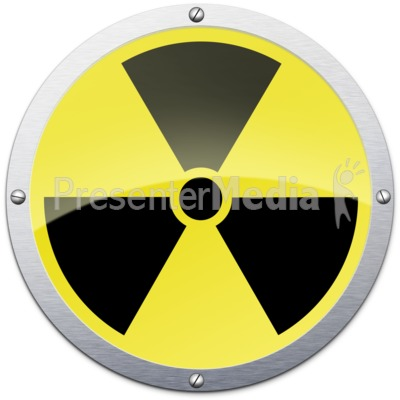 Radioactive Metal Symbol Presentation clipart