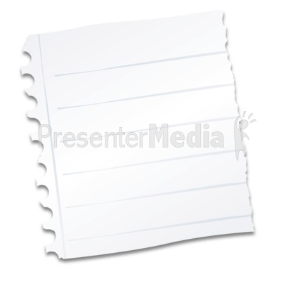 Notebook Paper Scrap Presentation clipart