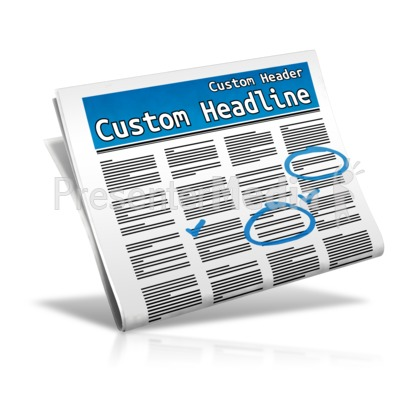 Custom Classifieds Presentation clipart