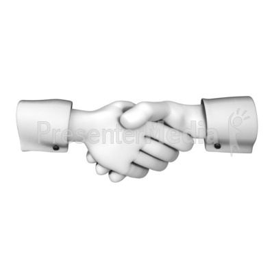 Hands Greeting with Handshake Presentation clipart