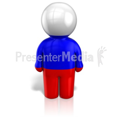 Russia Peg Figure Flag Icon Presentation clipart