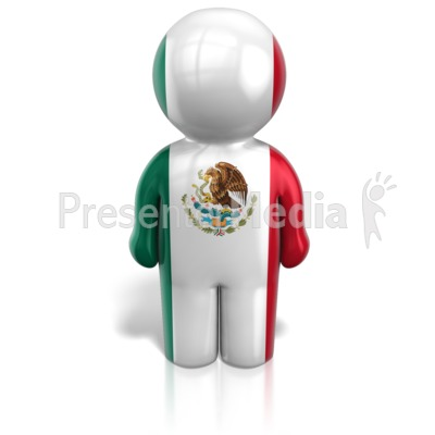 Mexico Peg Figure Flag Icon Presentation clipart