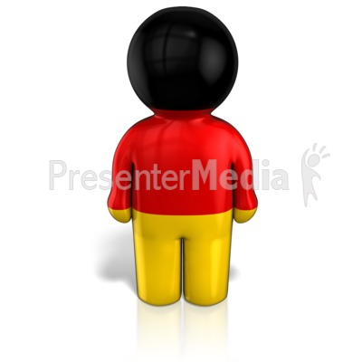 Germany Peg Figure Flag Icon Presentation clipart