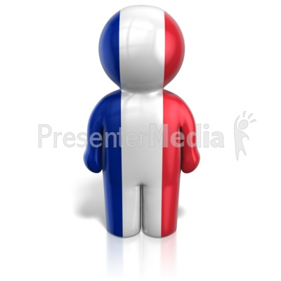 France Peg Figure Flag Icon Presentation clipart