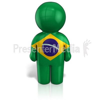 Brazil Peg Figure Flag Figure Presentation clipart