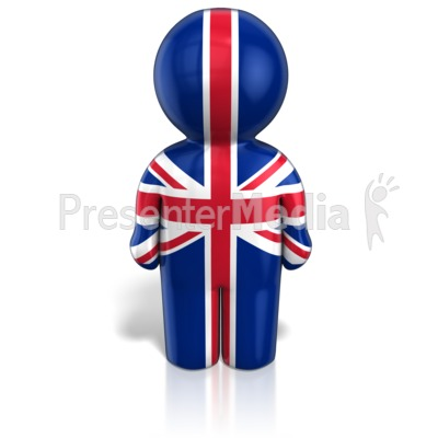 United Kingdom Peg Figure Flag Icon Presentation clipart