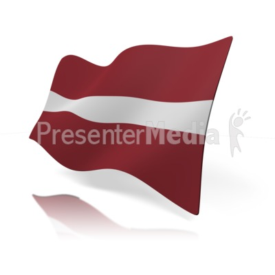 Latvia Flag Presentation clipart