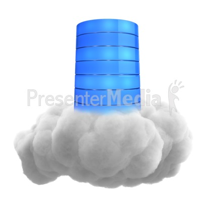 Single Cloud Database Presentation clipart