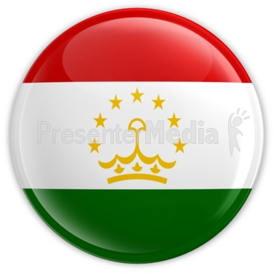 Tajikistan Badge Presentation clipart